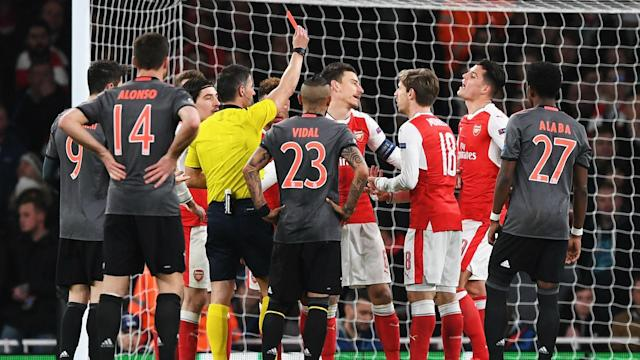 Both clubs have been punished by European football's governing body in the aftermath of the Gunners' 5-1 loss to the Bavarians in March
