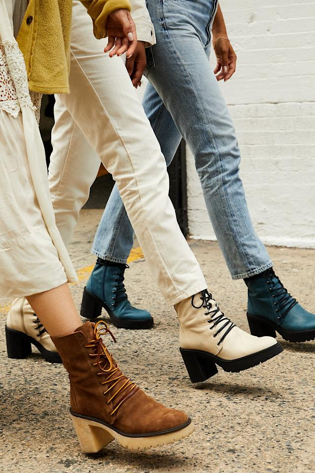 """<p>These cool <a href=""""https://www.popsugar.com/buy/Dylan-Lace-Up-Boots-478100?p_name=Dylan%20Lace-Up%20Boots&retailer=freepeople.com&pid=478100&price=178&evar1=fab%3Aus&evar9=46482783&list1=shopping%2Cfall%20fashion%2Cfree%20people&prop13=mobile&pdata=1"""" rel=""""nofollow"""" data-shoppable-link=""""1"""" target=""""_blank"""" class=""""ga-track"""" data-ga-category=""""Related"""" data-ga-label=""""https://www.freepeople.com/shop/dylan-lace-up-boot/?category=whats-new&amp;color=010"""" data-ga-action=""""In-Line Links"""">Dylan Lace-Up Boots</a> ($178) come in several colors.</p>"""