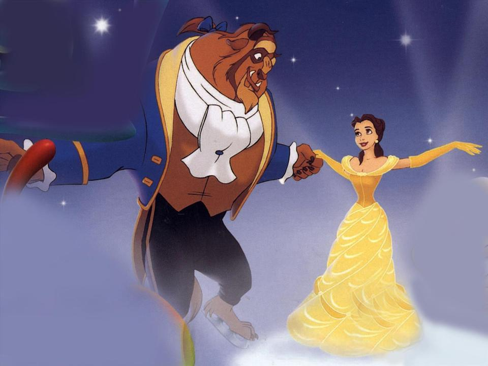 """Belle and The Beast from movie """"Beauty & The Beast"""", photo"""