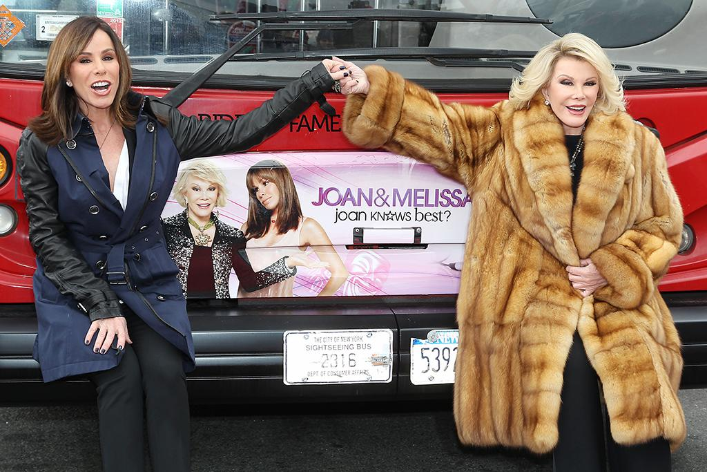 "-New York, NY - 03/01/2013 - Gray Line New York Honors Joan & Melissa Rivers with their ""Ride Of Fame"" Campaign and ribbon cutting ceremony. The celebration marks the Season 3 premiere of ""Joan & Melissa: Joan Knows Best"" on WE tv. -PICTURED: Melissa Rivers and Joan Rivers -PHOTO by: Kristina Bumphrey/Startraksphoto.com -Filename: KBU2114749.JPG -Location: Pier 78 Editorial - Rights Managed Image - Please contact www.startraksphoto.com for licensing fee Startraks Photo New York, NY For licensing please call 212-414-9464 or email sales@startraksphoto.com"