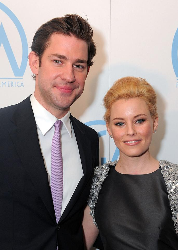 "<a href=""http://movies.yahoo.com/movie/contributor/1808573056"">John Krasinski</a> and <a href=""http://movies.yahoo.com/movie/contributor/1807816351"">Elizabeth Banks</a> at the 21st Annual Producers Guild Awards in Hollywood, California - 01/24/2010"