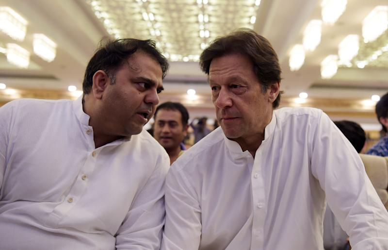 Fawad Chaudhry with Imran Khan