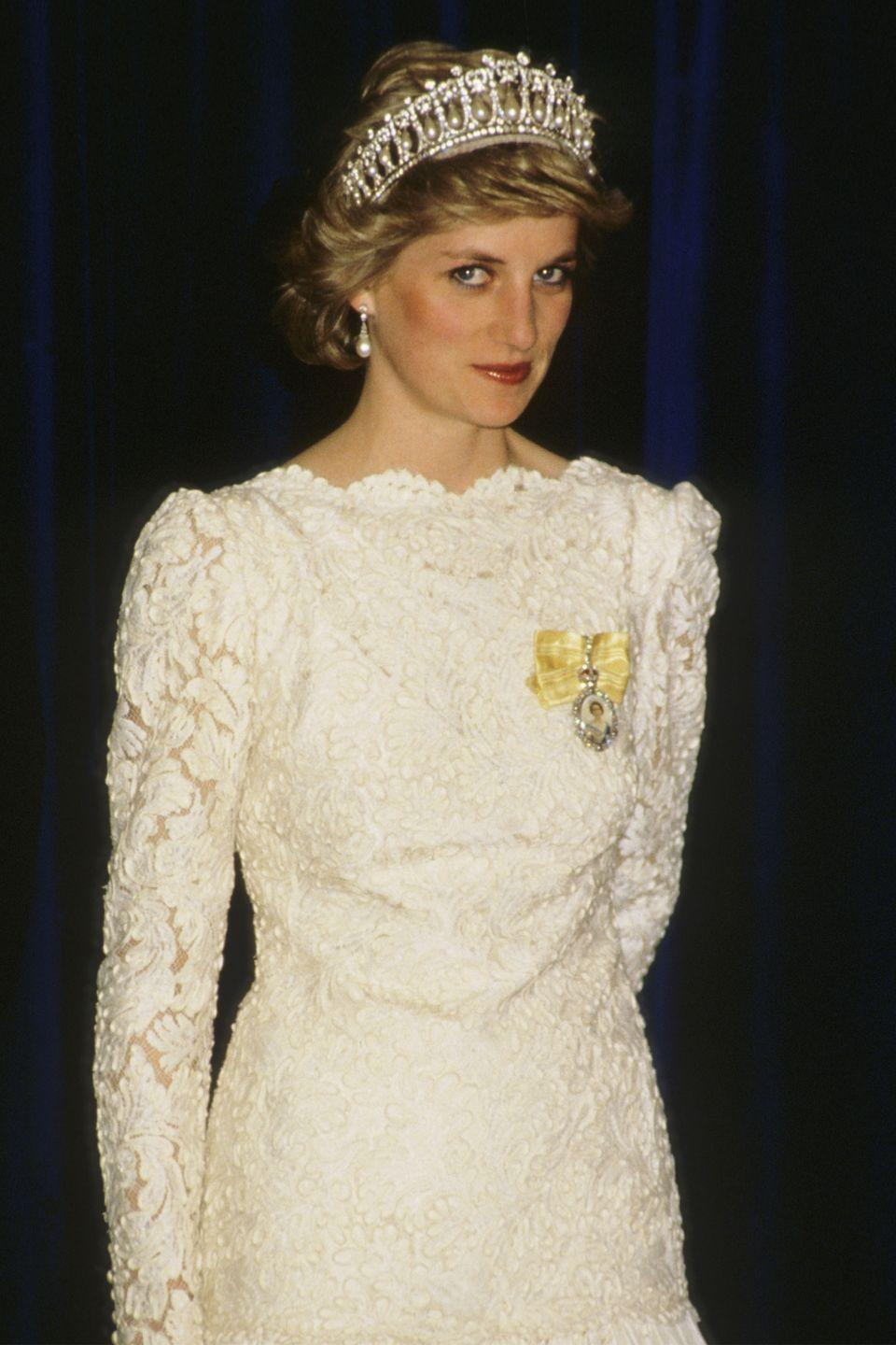 <p>In a white lace dress in Vancouver, Canada. </p>