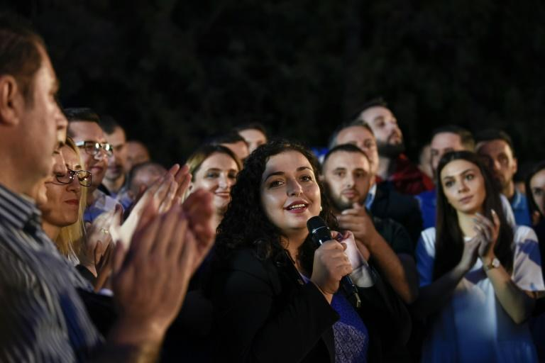 Kosovo's fractured political scene means no party is likely to win an absolute majority, meaning Osmani would have to forge a coalition to oust the establishment PDK, in power since 2007 (AFP Photo/Armend NIMANI)