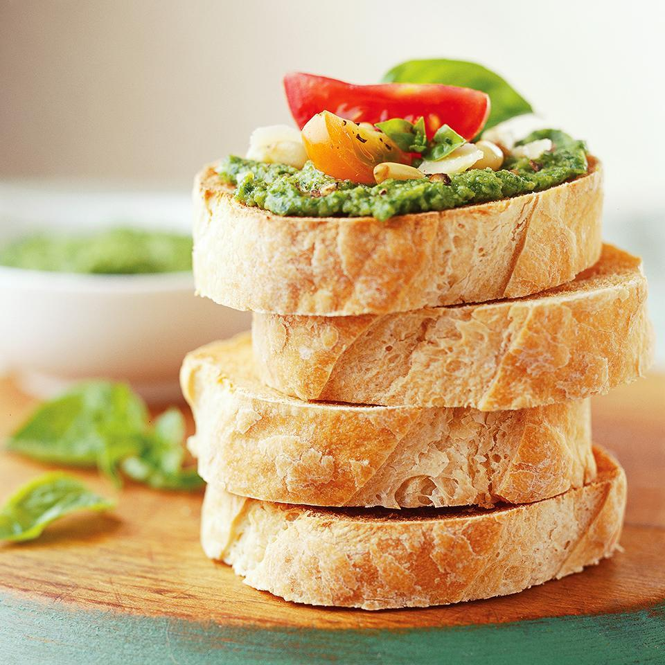 <p>This basil and arugula pesto is ready in five minutes and perfect on bruschetta, sandwiches or pasta.</p>