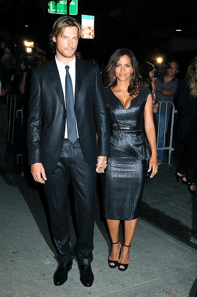 "With a 9-month-old at home you'd think that Halle Berry and Gabriel Aubry would look a little haggard; however, every time we see them, they appear to be happier and hotter than ever! Johns Pkl/<a href=""http://www.splashnewsonline.com"" target=""new"">Splash News</a> - September 7, 2008"