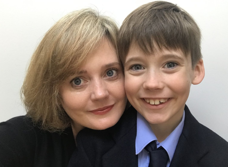Charlotte and her son Angus, 9.