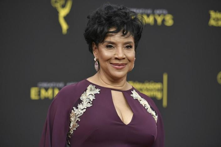 """FILE - Phylicia Rashad arrives at the Creative Arts Emmy Awards in Los Angeles on Sept. 15, 2019. Rashad is returning to her alma mater as the new dean of the Howard University College of Fine Arts. The longtime performer and Tony Award winner who role to cultural prominence as Clair Huxtable on """"The Cosby Show"""" graduated magna cum laude from Howard with a bachelor's in fine arts in 1970. (Photo by Richard Shotwell/Invision/AP, File)"""