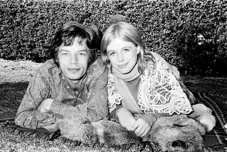Mick Jagger and Marianne Faithfull pictured together in 1969. (Photo: Getty Images)