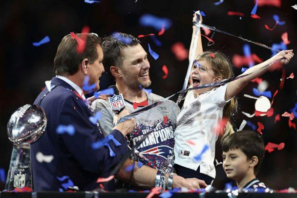PHOTO: Vivian Lake Brady, daughter of Tom Brady celebrates the Patriots' 13-3 win over the Los Angeles Rams during Super Bowl LIII at Mercedes-Benz Stadium, Feb. 3, 2019 in Atlanta. (Jamie Squire/Getty Images, FILE)
