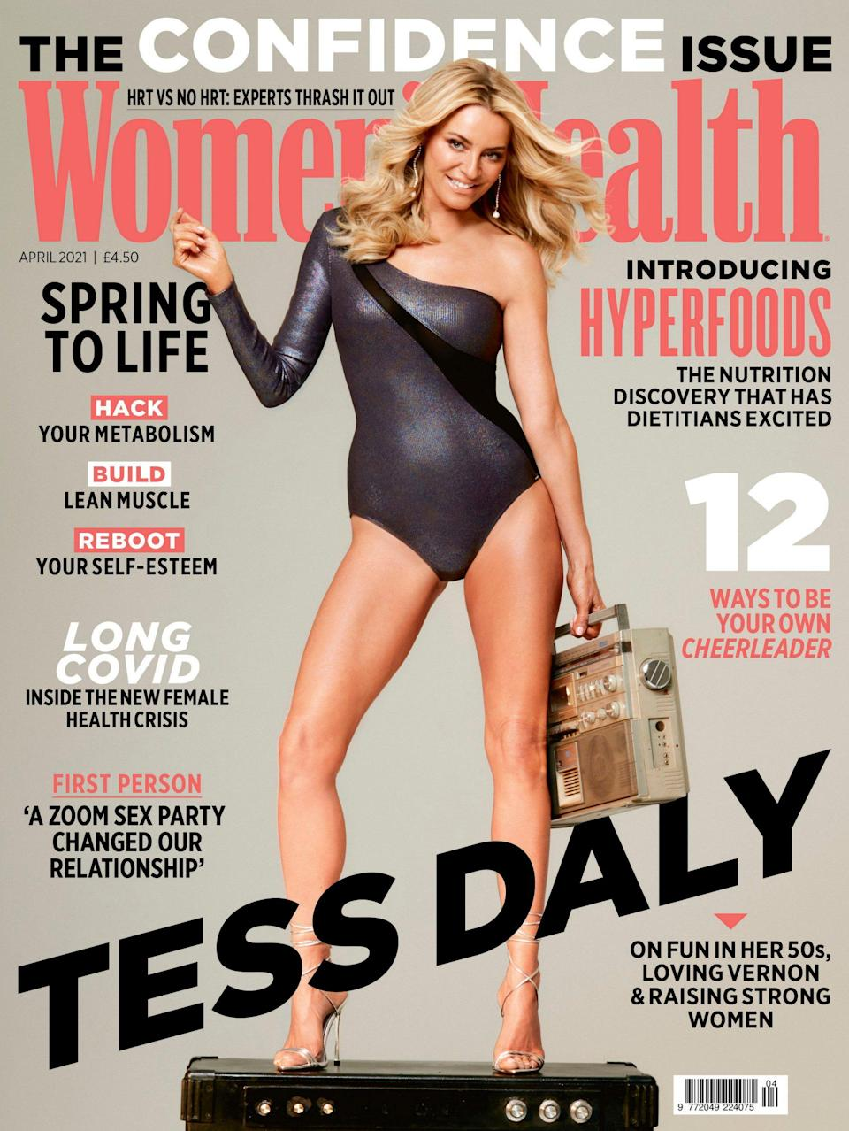 Tess Daly is on the cover of April's issue of Women's Health UK - Pete Pedonomou / Women's Health UK
