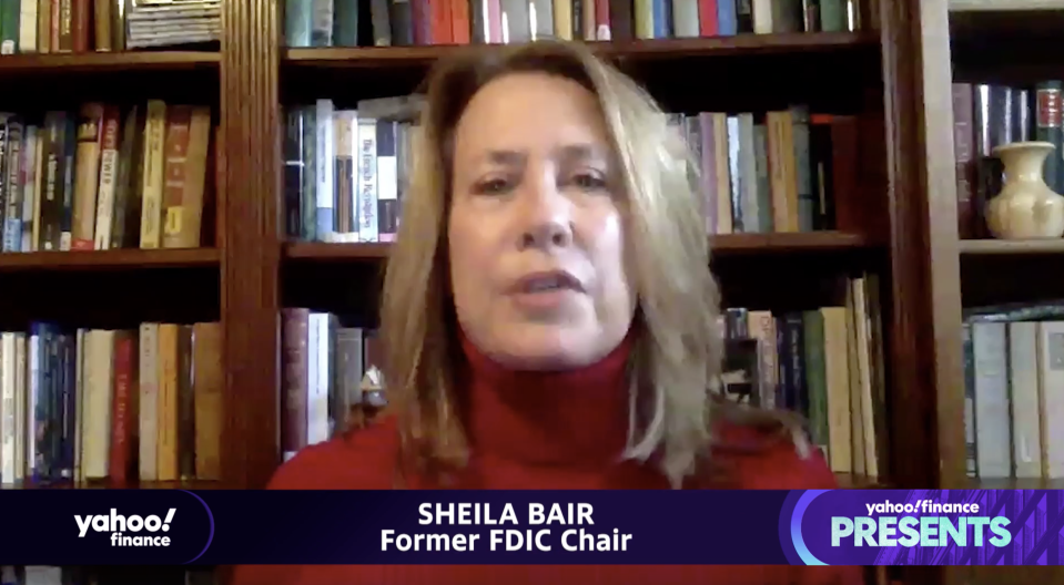 """Sheila Bair, the former chair of the Federal Deposit Insurance Corporation, appears on """"Yahoo Finance Presents."""""""