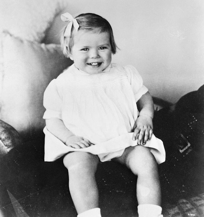 <p>The future Princess of Monaco when she was 18 months old.</p>