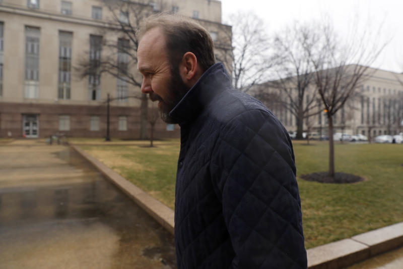 Rick Gates, the former deputy campaign manager for Donald Trump, will cooperate with Robert Mueller's investigation, The Los Angeles Times reported Sunday. (Aaron P. Bernstein via Getty Images)