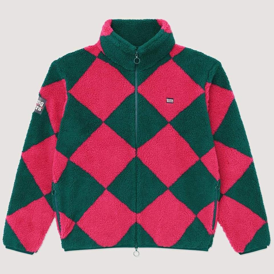 "<p><strong>Rowing Blazers</strong></p><p>rowingblazers.com</p><p><strong>$365.00</strong></p><p><a href=""https://rowingblazers.com/collections/fall-winter-20/products/pink-green-harlequin-fleece"" rel=""nofollow noopener"" target=""_blank"" data-ylk=""slk:Shop Now"" class=""link rapid-noclick-resp"">Shop Now</a></p><p>Literally everyone could use at least one more fluffy fleece zip-up in their closet. </p>"