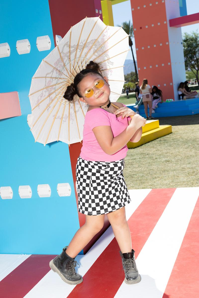 Street style at Weekend One of the 2019 Coachella Valley Music and Arts Festival in Indio, California, on Saturday, April 13. Photo by Maggie Shannon for W magazine.