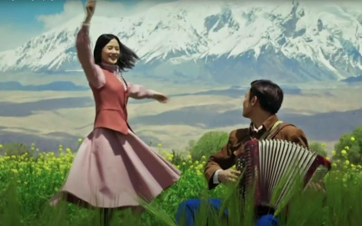 China has been keen to portray a happy image of the troubled region, producing musical Wings Of Song - CCTV