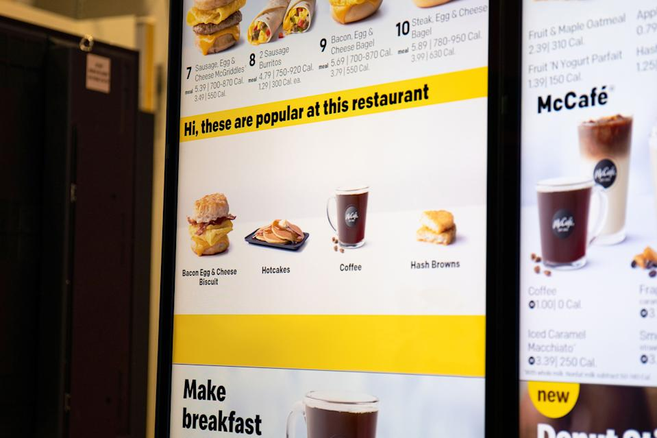 McDonald's cuts a big check to buy tech platform Dynamic Yield. The tech provider will allow McDonald's to offer personalized items on its digital drive-thru menu boards.