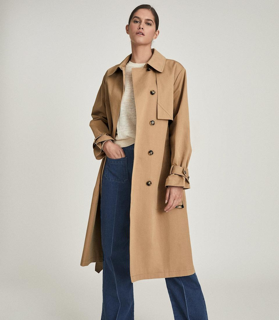 Sophie Cotton Blend Longline Trench Coat. Was $760, now $392.