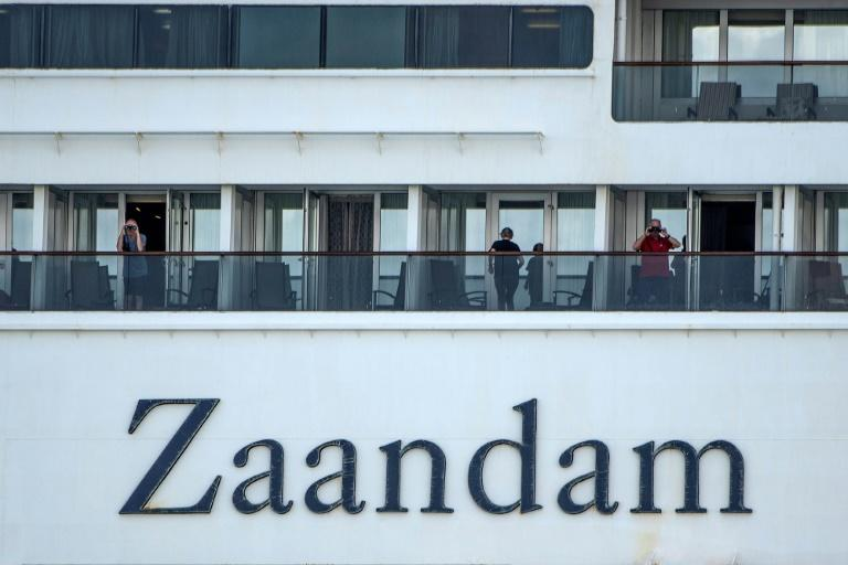Passengers have been self-isolating in their cabins aboard the Zaandam since March 22, 2020 (AFP Photo/Luis Acosta)