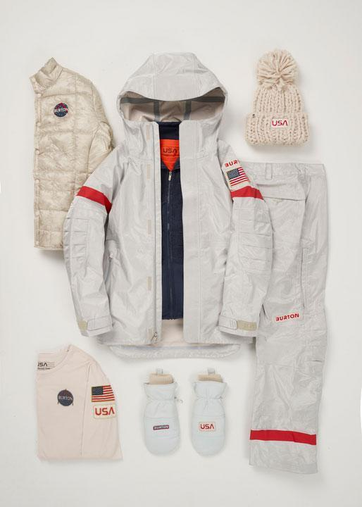 <p>This is the fourth time Burton has designed the U.S. Olympic snowboard uniforms. Although Burton has always celebrated a retro quality in the uniforms, the brand went for a retro-futuristic look for 2018, largely inspired by NASA's spacesuits. (Photo: courtesy of Burton) </p>