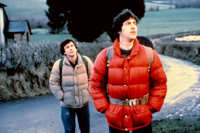 Griffin Dunne and David Naughton in <i>An American Werewolf in London</i>. (Universal/courtesy Everett Collection)