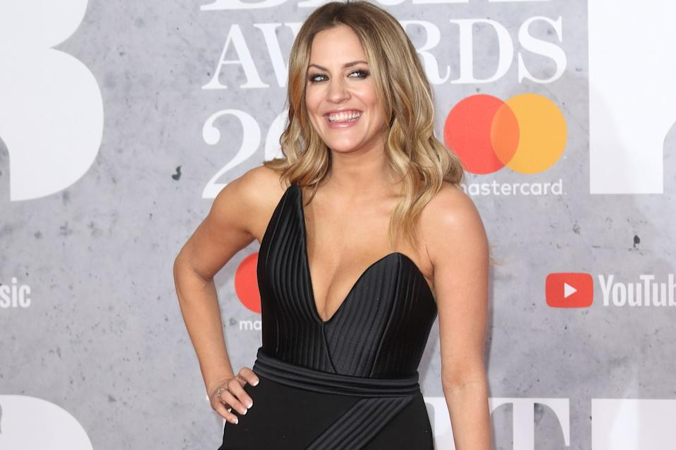 Caroline Flack attending the Brit Awards in 2019 (Getty Images)