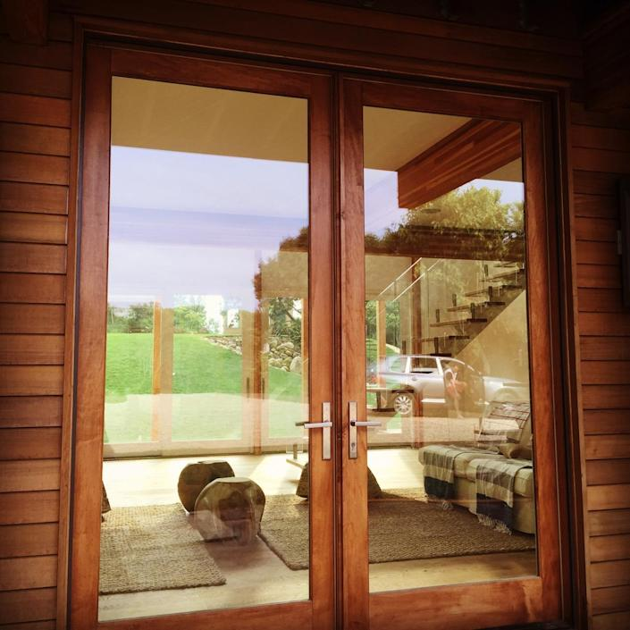 """<p>""""From the minute you get there you see through the double glass front doors all the way through the back double-height glass wall — the pool to the bay, you can see everything,"""" says Laura.<br></p>"""