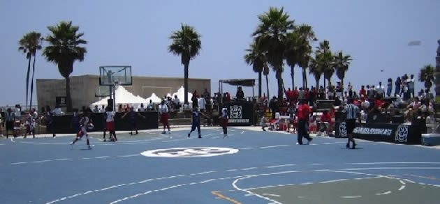 The Venice Beach Basketball Courts Which Will Feature A Sanctioned Hoopedia Nba