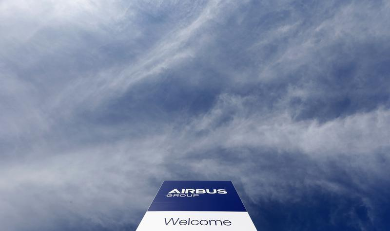 The logo of Airbus Group, Europe's largest aerospace group, is pictured in front of the company headquarters in Ottobrunn, near Munich