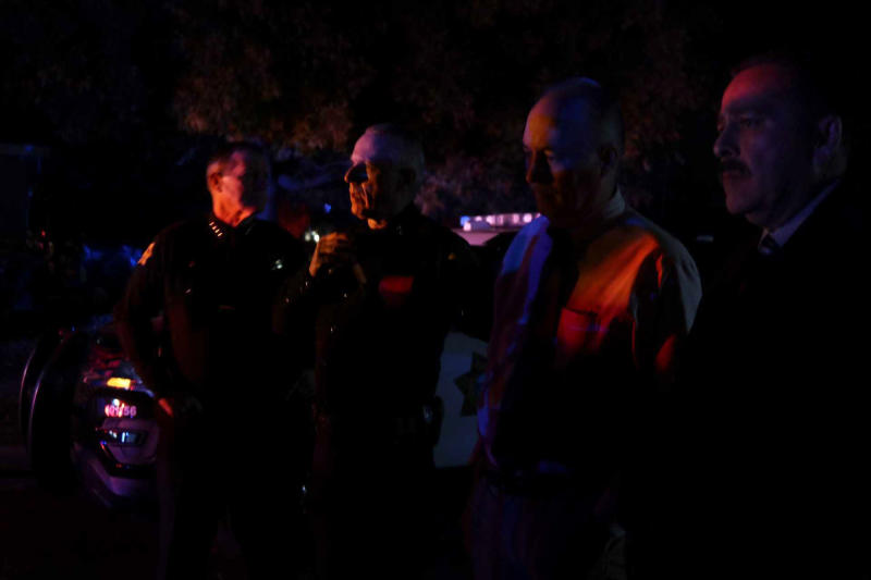 Police personnel stand outside the scene of a shooting at a backyard party, Sunday, Nov. 17, 2019, in southeast Fresno, Calif. (Photo: Larry Valenzuela/The Fresno Bee via AP)