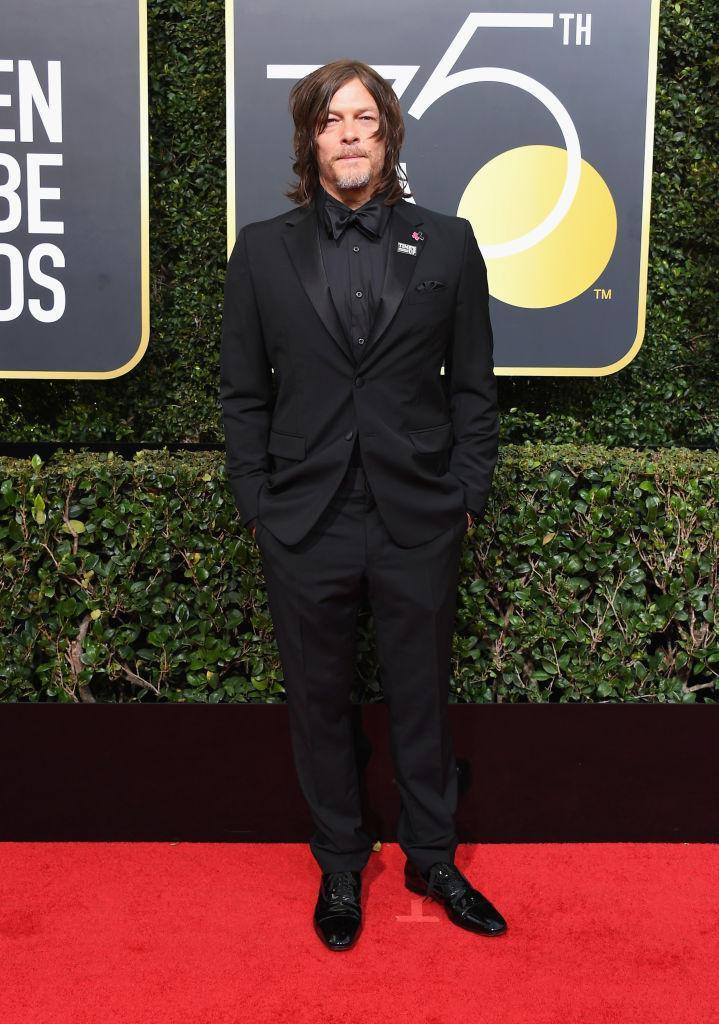 <p><em>The Walking Dead</em> actor attends the 75th Annual Golden Globe Awards at the Beverly Hilton Hotel in Beverly Hills, Calif., on Jan. 7, 2018. (Photo: Steve Granitz/WireImage) </p>