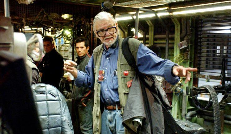George A. Romero on set for Land of the Dead - Credit: Universal Pictures