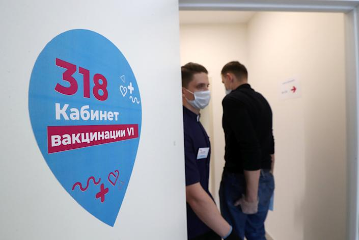 <p>Some 5,000 doctors, teachers and social workers have signed up for the vaccine</p>Sergei Karpukhin/TASS