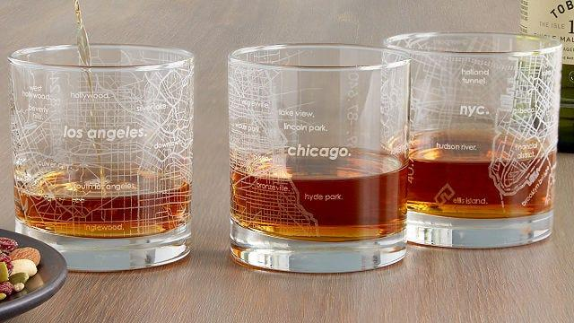 Best affordable gifts that look expensive: Urban Map Glass