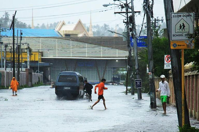 Kammuri has brought high winds and heavy rains across the northern Philippines