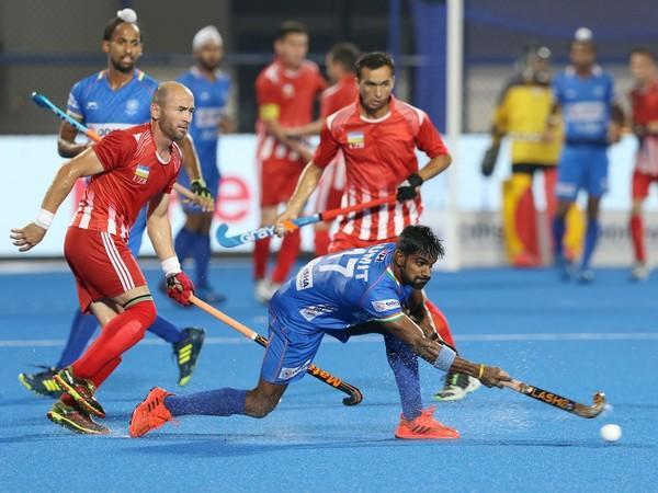 Indian mifielder Sumit in action (Photo/ Hockey India)
