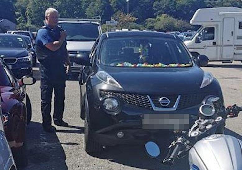 Two dogs were reportedly left in this car in Looe, Cornwall (SWNS)