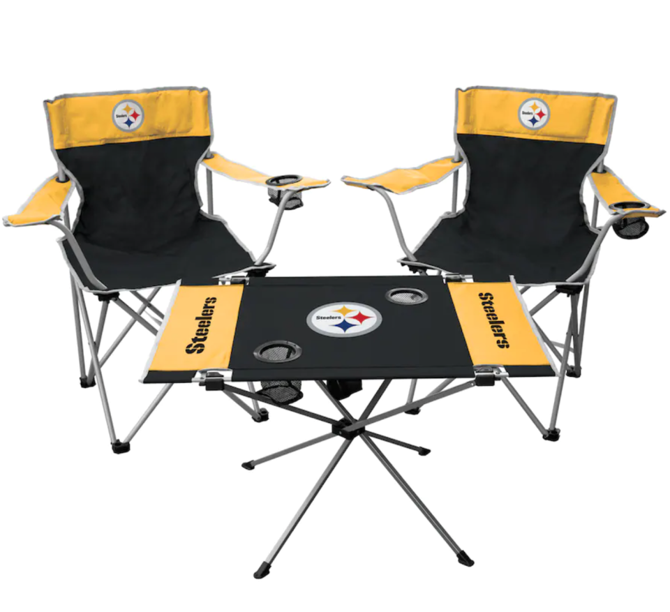 Steelers Rawlings Tailgate Table & Chairs Set