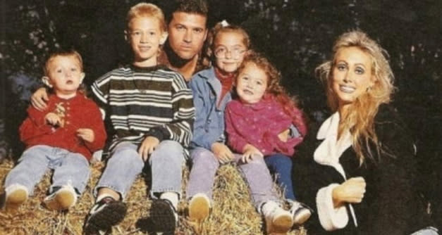 "<p>They've been posing strong for years. In 2012, Miley shared this throwback of the gang before Noah had even arrived on the scene. ""Awkward family photos. Look billyraycyrus always giving face!"" she captioned the pic of, from left, Braison, Trace, Billy, Brandi, Miley, and Tish. They've come a long way, but they had it even back then. (Photo: <a href=""https://twitter.com/MileyCyrus/status/165300214016643073/photo/1"" rel=""nofollow noopener"" target=""_blank"" data-ylk=""slk:Miley Cyrus via Twitter"" class=""link rapid-noclick-resp"">Miley Cyrus via Twitter</a>) </p>"
