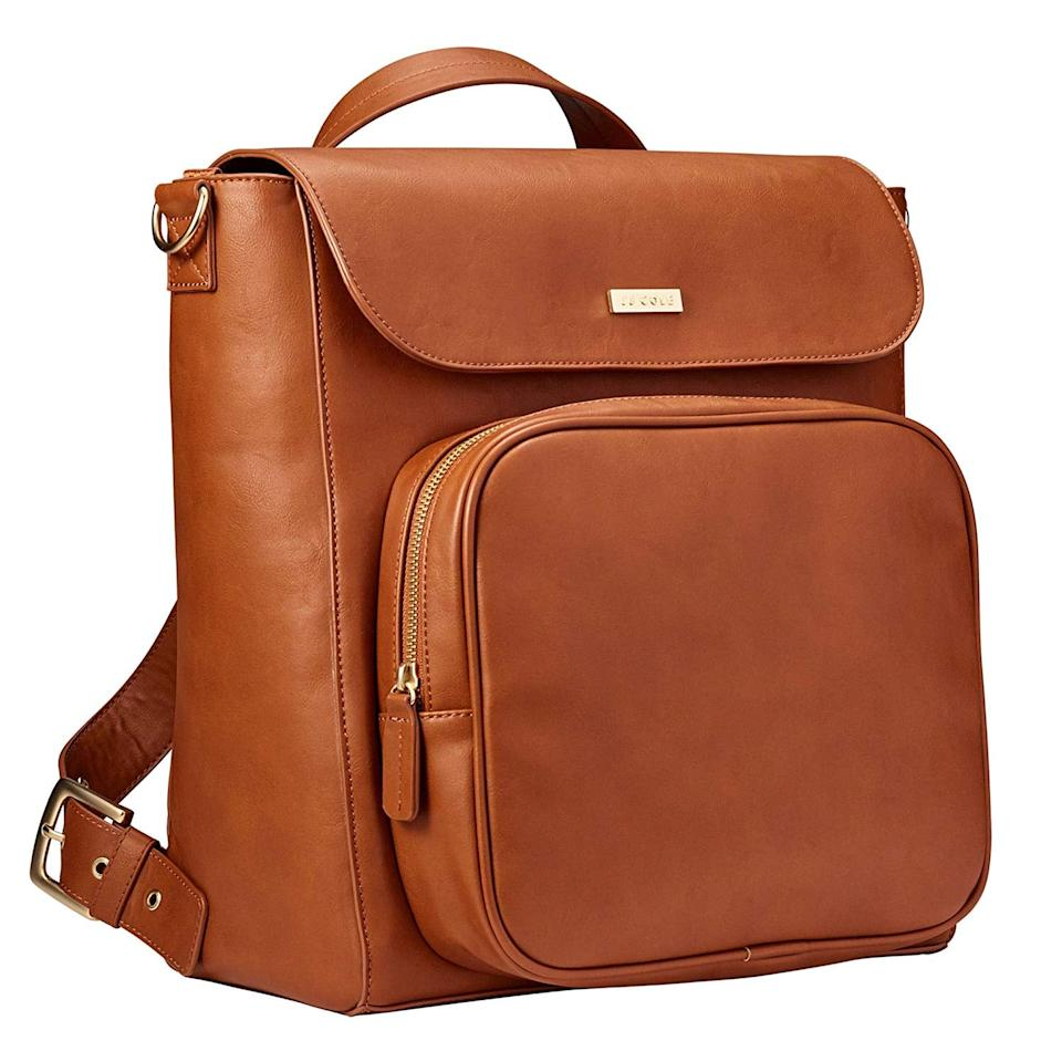 """<p>The <a href=""""https://www.popsugar.com/buy/JJ-Cole-Brookmont-Diaper-Bag-411777?p_name=JJ%20Cole%20Brookmont%20Diaper%20Bag&retailer=amazon.com&pid=411777&price=100&evar1=moms%3Aus&evar9=44483623&evar98=https%3A%2F%2Fwww.popsugar.com%2Ffamily%2Fphoto-gallery%2F44483623%2Fimage%2F46091072%2FJJ-Cole-Brookmont-Diaper-Bag&list1=diaper%20bags%2Cbaby%20showers%2Cbaby%20shower%20gifts%2Cbaby%20shopping%2Cparent%20shopping&prop13=mobile&pdata=1"""" rel=""""nofollow"""" data-shoppable-link=""""1"""" target=""""_blank"""" class=""""ga-track"""" data-ga-category=""""Related"""" data-ga-label=""""https://www.amazon.com/JJ-Cole-Brookmont-Capacity-Backpack/dp/B07GX3394R?th=1"""" data-ga-action=""""In-Line Links"""">JJ Cole Brookmont Diaper Bag</a> ($100) may look like an ordinary backpack, but it's anything but. It has 15 pockets, a zip front for bottles, and a removable liner so you can unzip it and toss it in the wash.</p>"""