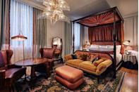 """<p>Since opening in May 2017, The Ned - a beautifully restored former bank - has become a popular location for discerning travellers. Each of its rooms nod to 1920s glamour, ranging in sizes - from the well considered snug rooms to lavish heritage suites with decadent four-poster beds. Throughout August 2020, the hotel is offering a summer staycation package; use the discount code CITYSTAY when booking a two-night stay online and you'll receive a complimentary bottle of champagne in your room, two breakfasts on the house, a selection of Cowshed goodies, and a complimentary dinner in one of the ground-floor restaurants of your choosing. </p><p>For more information visit <a href=""""https://www.thened.com/"""" rel=""""nofollow noopener"""" target=""""_blank"""" data-ylk=""""slk:Thened.com"""" class=""""link rapid-noclick-resp"""">Thened.com</a></p>"""