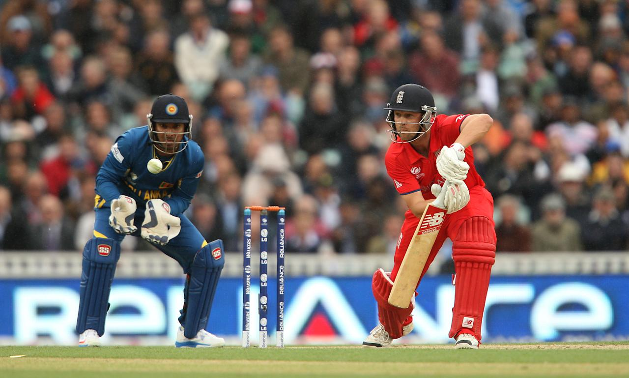 England's Jonathan Trott during the ICC Champions Trophy match at The Kia Oval, London.