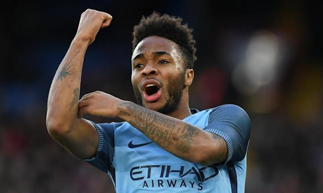 """<span class=""""element-image__caption"""">Raheem Sterling joined Manchester City from Liverpool in 2015 and won the Capital One Cup final against his former club last season.</span> <span class=""""element-image__credit"""">Photograph: Mike Hewitt/Getty Images</span>"""