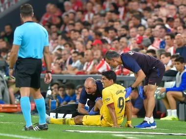 LaLiga: Luis Suarez suffers right leg injury in Barcelona's 1-0 defeat to Athletic Club Bilbao in opener