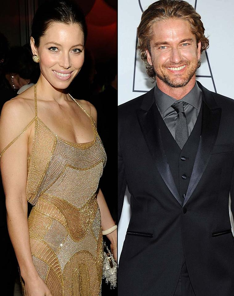 """Perez Hilton reports Jessica Biel and Gerard Butler are a """"new couple,"""" and that the actress has finally found someone to replace the """"hole"""" left in her heart by Justin Timberlake. Perez notes the """"Playing the Field"""" co-stars are now hanging out off the set, which """"suggest[s] something a bit more could be going on."""" For what exactly is happening between Butler and Biel, check out what a source close to the actor dishes exclusively to <a href=""""http://www.gossipcop.com/jessica-biel-gerard-butler-dating-romantic-couple-movie-together-playing-the-field/"""" target=""""new"""">Gossip Cop. <a href=""""http://www.wireimage.com"""" target=""""new"""">WireImage.com</a></a>"""