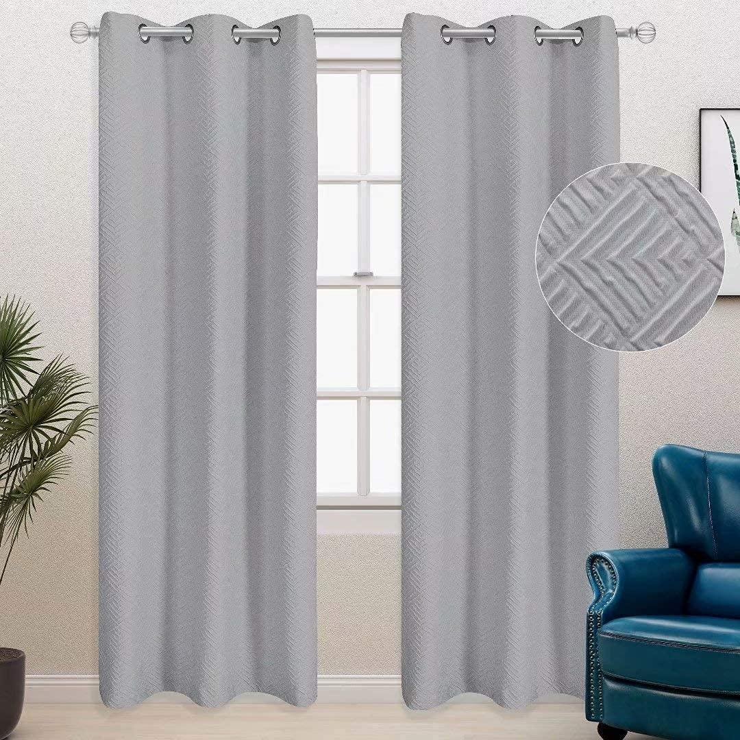 These curtains have a subtle pattern, too. (Photo: Amazon)