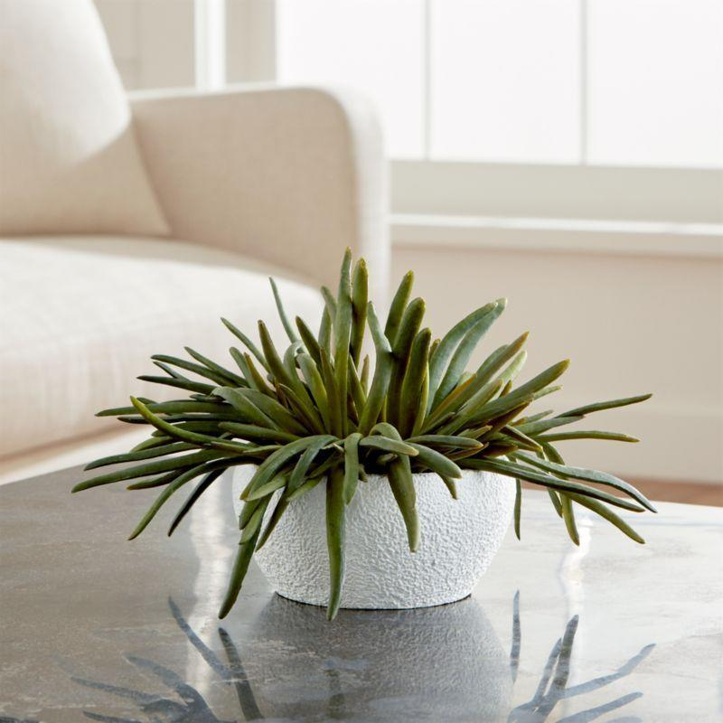 """<p><strong>crate and barrel</strong></p><p>crateandbarrel.com</p><p><strong>$44.95</strong></p><p><a href=""""https://go.redirectingat.com?id=74968X1596630&url=https%3A%2F%2Fwww.crateandbarrel.com%2Fpencil-succulent%2Fs292596&sref=https%3A%2F%2Fwww.womenshealthmag.com%2Flife%2Fg34483134%2Fbest-fake-plants%2F"""" rel=""""nofollow noopener"""" target=""""_blank"""" data-ylk=""""slk:Shop Now"""" class=""""link rapid-noclick-resp"""">Shop Now</a></p><p>Faux succulents are some of the best artificial plants you can get your hands on, says Welch, because their sturdy texture makes them look fake anyway.</p>"""