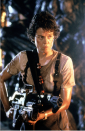 """<p>You can't talk about tough without talking about Ellen Ripley. Originally, the role was written for a male hero, but Ridley Scott ultimately changed it to portray a heroine played flawlessly by Sigourney Weaver. From <a href=""""https://www.popularmechanics.com/technology/gadgets/a17562208/build-your-own-boring-company-flamethrower/"""" rel=""""nofollow noopener"""" target=""""_blank"""" data-ylk=""""slk:flamethrowers"""" class=""""link rapid-noclick-resp"""">flamethrowers</a>, to powered work loaders, to pulse rifles, Ripley wielded some serious weaponry to survive the onslaught of aliens each film threw at her. Few have reached the legendary status Weaver established as Ripley throughout the course of the <em>Alien</em> franchise.</p>"""