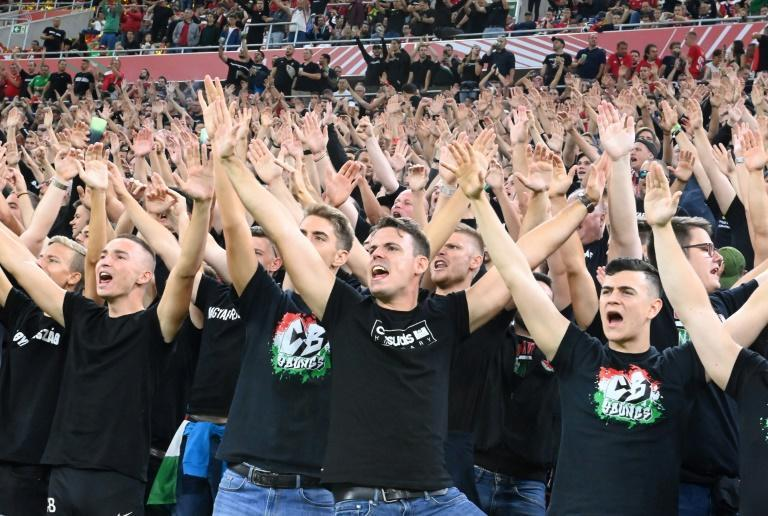 Hungary's fans created a hostile atmosphere in the Puskas Arena, but racist chants were reportedly aimed at England players (AFP/Attila KISBENEDEK)